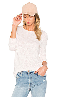 Long Sleeve Destroyed Wash Tee – English Rose