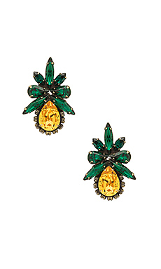 Karina Clip Earrings en Vert