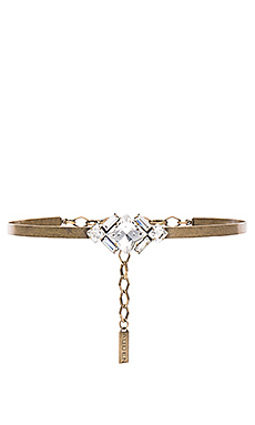 Harlow Choker in Brass