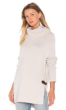 Cowl Neck Side Buckle Sweater en Lin