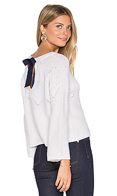 Tie Back Boxy Crop Sweater – Frost & Navy