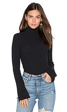 x REVOLVE Ribbed Turtleneck Bell Sleeve Sweater – 铅灰色