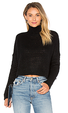 PULL CROPPED COL CHEMINÉE