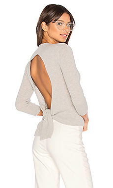 Tie Back Crop Sweater en Brume