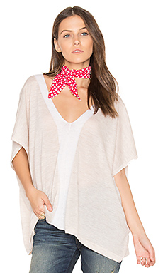 V Neck Poncho en Wicker & Moonlight