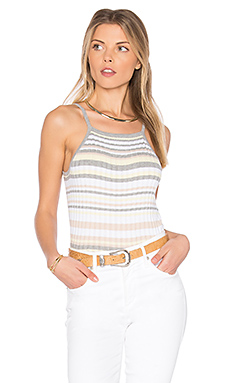 x REVOLVE Bib Stripe Crop Top en Sweatshirt & Bleach White Combo