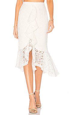 Marcello Skirt in Off White Lace