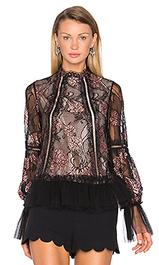Lia Blouse en Black Rose