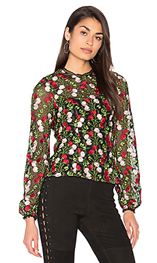 Aida Blouse en Rose Embroidery Blossom