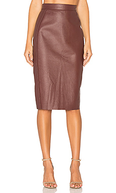 Wika Pencil Skirt in Burgundy