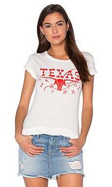 Texas Tee in White & Red