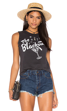 The Blackout Womens Muscle Tee in Black & White