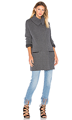 Cornell Sweater Coat in Anthracita