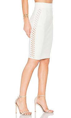 Stern Sweater Skirt in Cream
