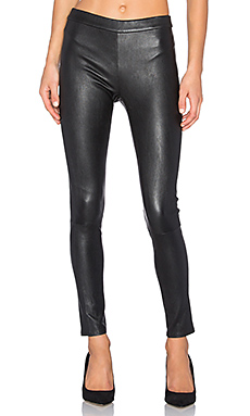 Hailey Leather Legging – 复古黑色