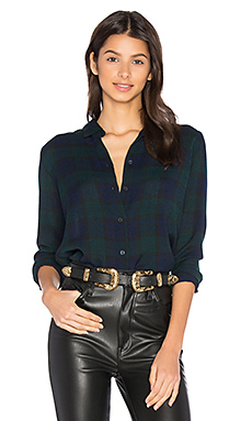 Mila Button Up en Plaid Gauze