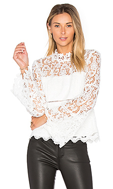 x REVOLVE Sansa Lace Top in Ivory