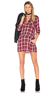 Jack By BB Dakota Anden Shirt Dress in Burnt Red