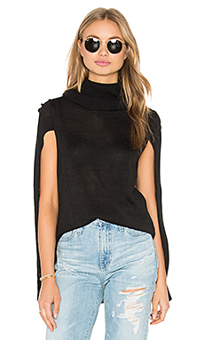 Ames Sweater Cape en Noir