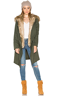 Gerrard Jacket with Faux Fur Trim en Kaki