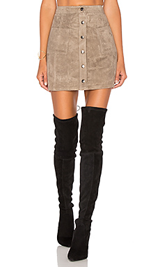 Jack By BB Dakota Callister Faux Suede Mini Skirt