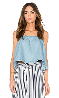Chet Top en Medium Wash Chambray
