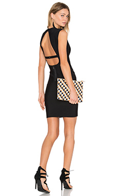 Oralie Open Back Dress in Black