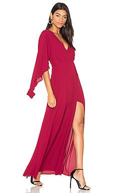 Open Sleeve Gown en Cranberry Foncé