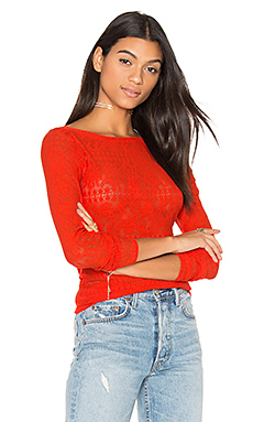 Wylie Top en Bright Red
