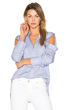 Nishani Blouse en Light Blue Combo