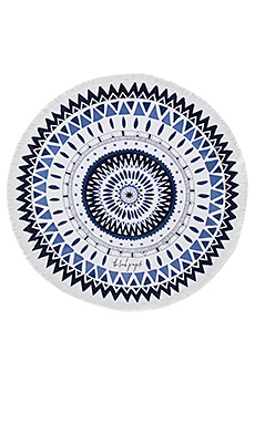 Majorelle Round Towel in Shades of Blue Print