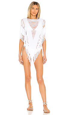 Indian Summer Poncho en Blanc