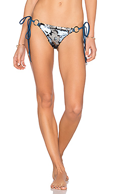 Siren's Song Tie Side Skimpy Bikini Bottom en Dark Navy Sequin