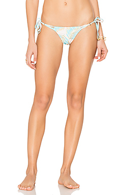 Basic Tie Side Skimpy Bikini Bottom en Aqua Palm