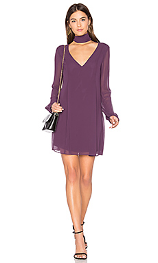 Bow Dress – Plum Black