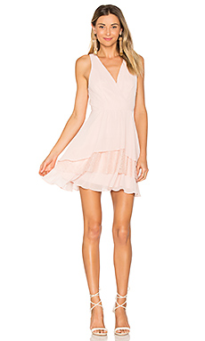 Surplice Ruffle Dress in Rose Smoke
