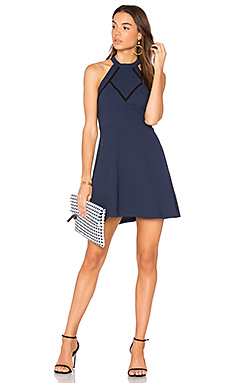 Halter Dress in Dark Navy