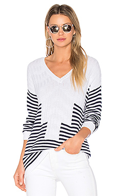 Striped Sweater in Navy Combo