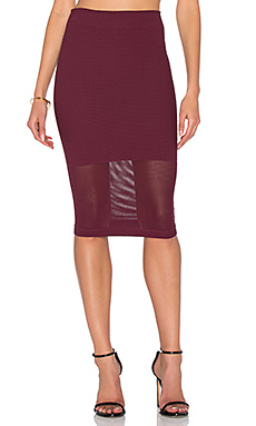 Pencil Skirt in Bordeaux