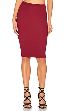 Seamless Midi Skirt – Dark Rouge