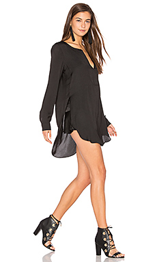 Shirred Blouse en Noir