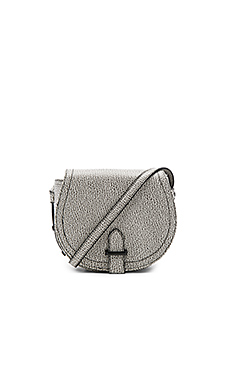 Crackle Pebble Saddle Bag en Blanc