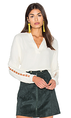Insert Sleeve Top en Ivory