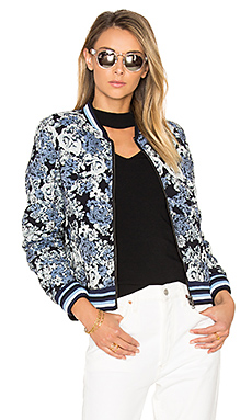 Floral Bomber Jacket in Most Wanted