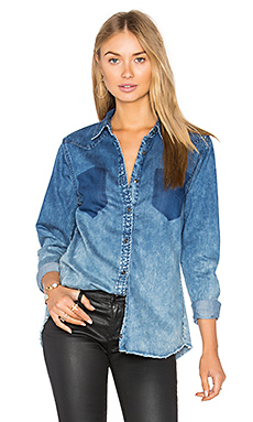 Denim Button Up – Float On