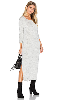 Side Slit Long Sleeve Dress – 冬日白