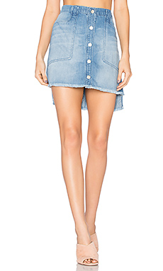 High Low Mini Skirt en Indio Wash