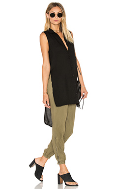 High Low Tunic en Noir