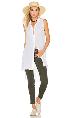 High Low Tunic en Blanc