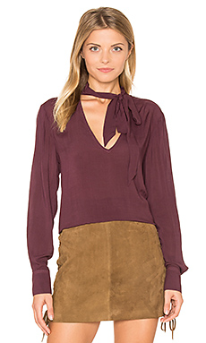 Neck Tie Top – Spiced Berry